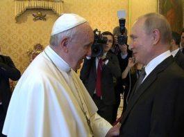 Конфуз произошел на встрече Путина и папы Римского