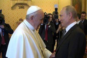 Папа Франциск по ошибке процитировал Путина вместо Меркель