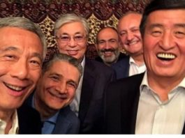Лидеры стран ЕАЭС сделали селфи и выпили за Путина и Лукашенко
