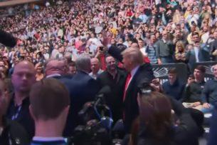 Трамп посетил турнир UFC в Нью-Йорке. Его встретили аплодисментами и свистом