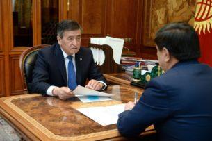 Сооронбай Жээнбеков принял премьер-министра. О чем они говорили?