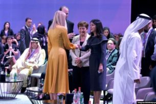 Саида Мирзиёева встретилась с Иванкой Трамп на форуме в Дубае