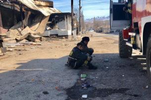 В селе Масанчи в ходе расчистки под завалами обнаружены обгоревшие человеческие останки