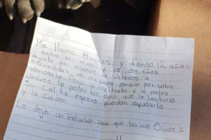 «Папа бьет ее»: на пороге приюта нашли щенка с душераздирающей запиской от ребенка