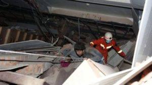 Обрушился китайский отель с отправленными на карантин