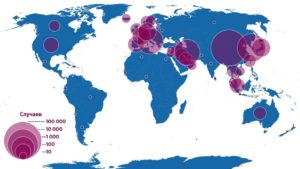 Ситуация с коронавирусом в мире по состоянию на 19 марта