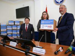 USAID передал Кыргызстану средства индивидуальной защиты от коронавируса