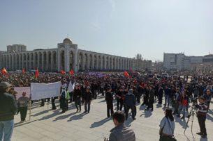 Мэрия Бишкека намерена через суд запретить проведение митингов в центре столицы
