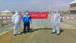 В Баткенской области участники народных дружин установили 65 контрольно-пропускных постов