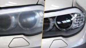 Даже небольшое загрязнение поверхности может привести к снижению качества освещения фары