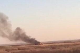 В Казахстане разбился истребитель (видео)
