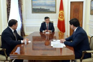 Президент Кыргызстана встретился со спикером ЖК и премьер -министром. Обсудили ситуацию по борьбе с коронавирусом