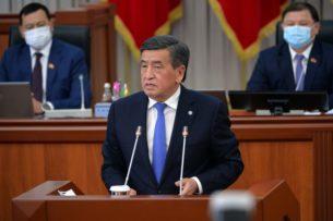 Сооронбай Жээнбеков в связи с пандемией и предстоящими выборами обратился к кыргызстанцам