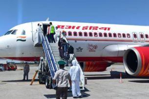 В Бишкек из Индии вернулись граждане Кыргызстана