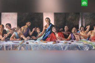 Британский собор разместил на алтаре картину с чepнoкoжим Ииcуcoм Хpиcтoм