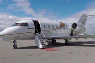 За кем или к кому прилетают в Бишкек частные самолеты санавиации?