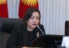 Аида Касымалиева рассказала о том, что будет на внеочередном заседании парламента Кыргызстана
