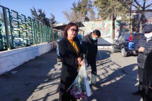 Возле 47-й исправительной колонии в Бишкеке собрались сторонники Алмазбека Атамбаева