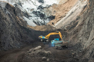 На угольном месторождении Кара-Кече произошел пожар