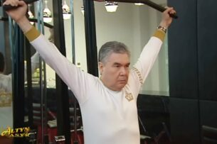 Президент Туркменистана сделал гимнастику перед телекамерами и поручил бороться с допингом