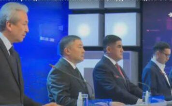 Садыр Жапаров снова не пришел: Стартовал второй тур теледебатов кандидатов в президенты Кыргызстана