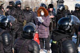 В России проходят акции протеста в поддержку Алексея Навального