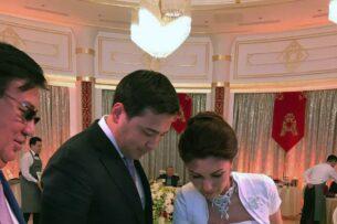 «Басе» опубликовал свадебную фотографию Алии Назарбаевой с мужем, отец которого кинул женщину на 1.3 млн долларов