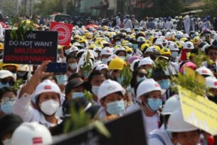 Мьянма: полиция открыла огонь по демонстрантам. Есть убитые и раненые