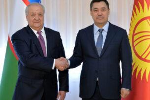 Садыр Жапаров принял министра иностранных дел Узбекистана