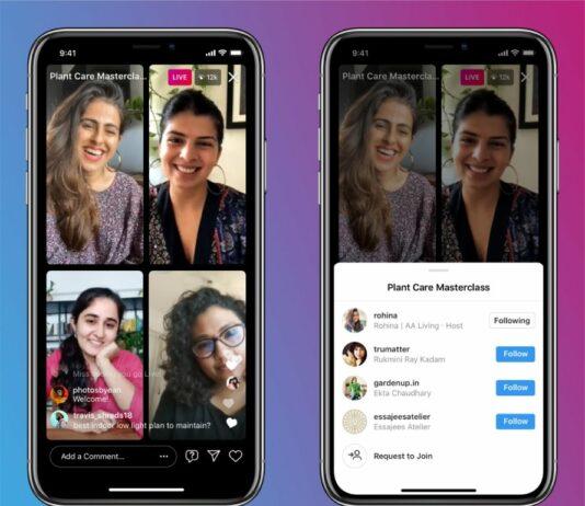 В прямых эфирах Instagram смогут участвовать до трех пользователей