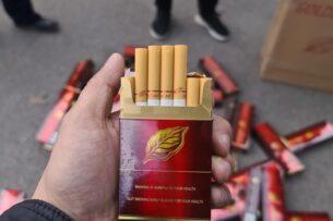 Финполицией Кыргызстана выявлен факт незаконного ввоза крупной партии сигарет из Ирана