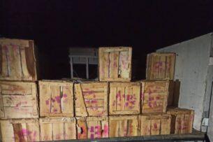 Пограничники Кыргызстана пресекли незаконный ввоз 2,5 тонн железа и 2 тонн мандаринов