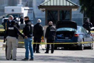 Автомобиль пытался протаранить заграждение у Капитолия и наехал на полицейских