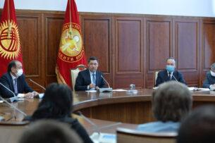 Садыр Жапаров поставил задачи по стабилизации эпидемиологической ситуации в стране