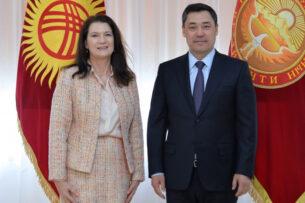 Садыр Жапаров встретился с действующим председателем ОБСЕ Анн Линде