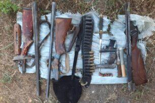 ГКНБ: В Чуйской области обнаружен схрон оружия и боеприпасов