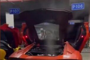 Мужчина хотел пожарить мясо на Lamborghini: что-то пошло не так
