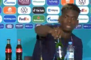 Пример Роналду заразителен? Погба убрал бутылку пива со стола на пресс-конференции