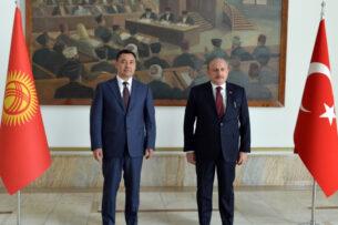 Садыр Жапаров встретился с председателем Великого национального собрания Турции