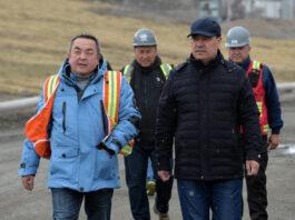 Садыр Жапаров ознакомился с работой рудника «Кумтор» и встретился с трудовым коллективом «Кумтор Голд Компани»