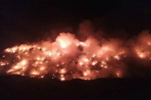 Неизвестные совершили поджог на бишкекской свалке