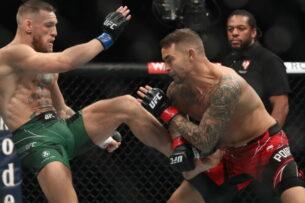Порье победил Макгрегора на UFC 264, ирландец сломал ногу. Хабиб рад за Дастина
