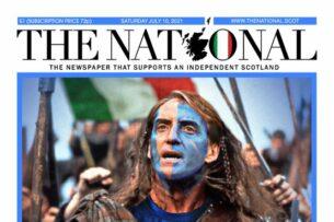 Финал Евро-2020: Шотландская газета изобразила тренера Италии в образе главного героя «Храброго сердца»