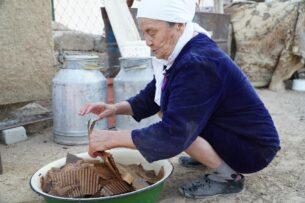 Засуха и джут: Казахстанский блогер показал, как готовят корм из картона для скота