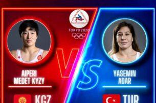 Токио — 2020: Айпери Медет кызы проиграла схватку за бронзу Олимпиады