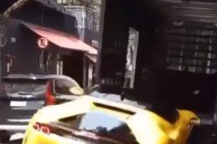 С подъемника уронили самую мощную и дорогую Ferrari (видео)