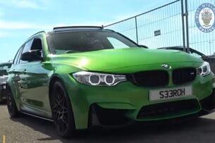 Полиция уничтожила уникальный универсал BMW M3 из-за краденных деталей (видео)