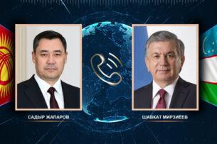 Садыр Жапаров поздравил Шавката Мирзиёева с победой на президентских выборах